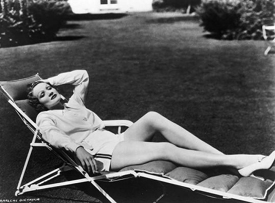Marlene při odpočinku.