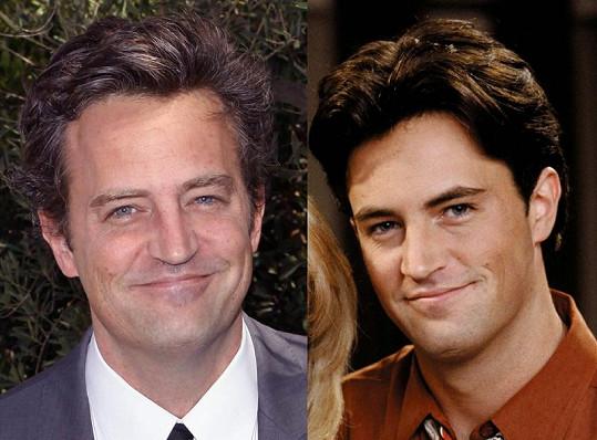 Perry v době své nejznámější role Chandlera (vpravo) a dnes.