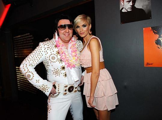 Hanka Mašlíková s Elvisem.