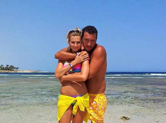 Sandra s přítelem Michalem Janotkou