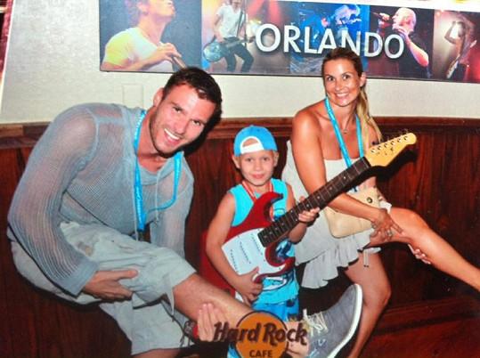 Monika s Leošem a starším synem byli v létě na dovolené v Orlandu.