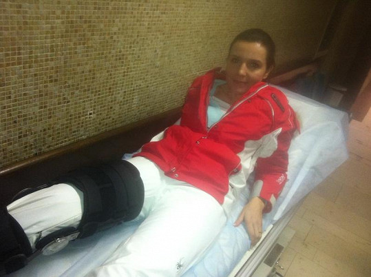 Martina v nemocnici.