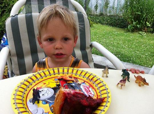 Malý Matěj slavil na začátku léta druhé narozeniny.