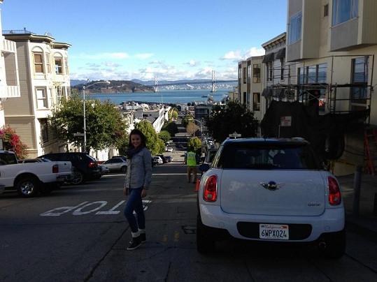 Monika navštívila i San Francisco.