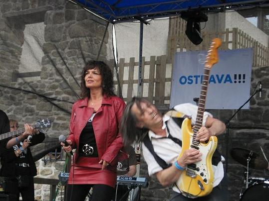 Tanja na vystoupení v rodné Ostravě.