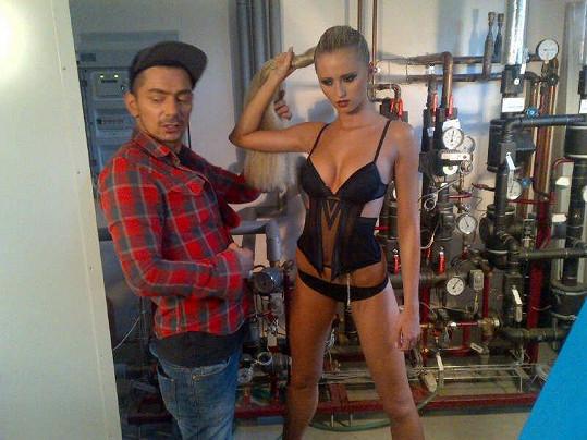 Tereza a stylista Stan Steiner.