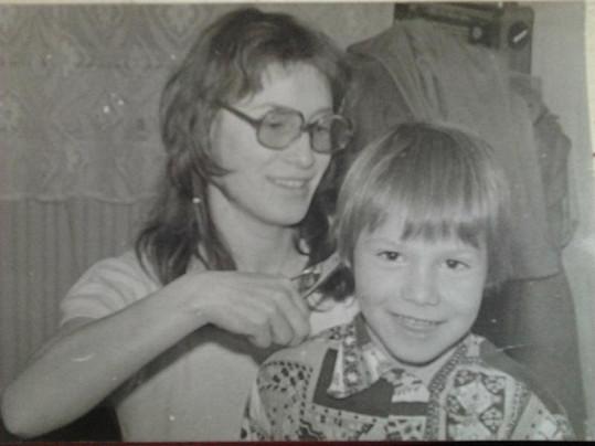 Bohuš Matuš již ve starším věku se svou maminkou.