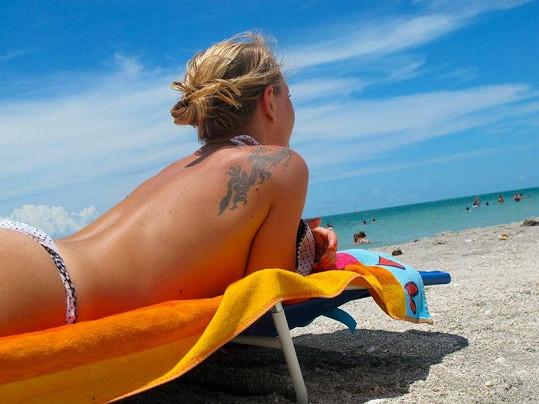 Martina Pártlová má na těle několik tetování.