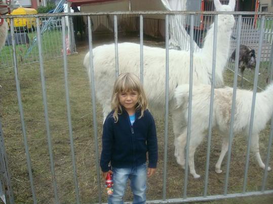 Patrik má na Facebooku starší fotku Jakuba z návštěvy zvěřince v cirkuse.