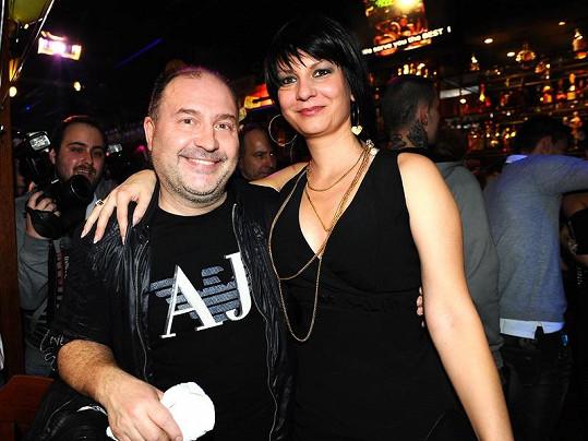 Jana Ridi s Michalem Davidem na párty.