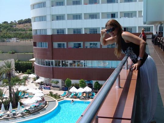 Mahulena Bočanová si užívala v opravdu luxusním hotelu, který jí doporučil její kamarád Ridha, majitel cestovky Dolce Vita.