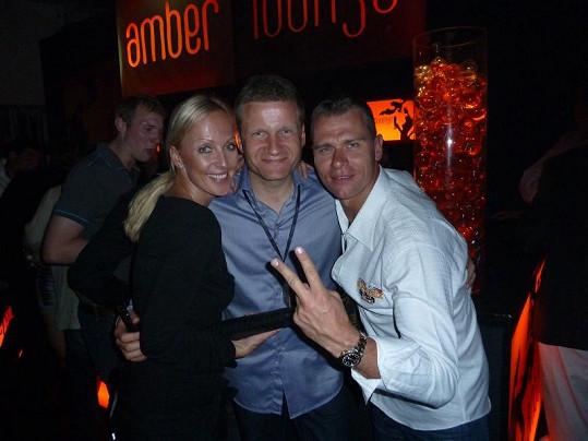 Zuzana Belohorcová a Vlasta Hájek s Pavlem Turkem, který je po Monte Carlu provázel.