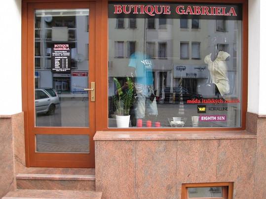 Obchůdek Gabriely Dvořákové.