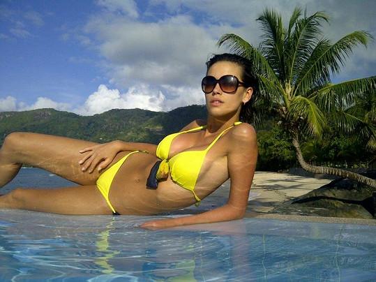 Kateřina Votavová vystavila tělo u hotelového bazénu.