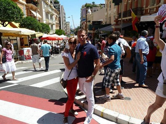 Vlasta a Zuzka v centru Monte Carla.