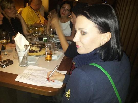 Gábina Partyšová petici také podepsala.