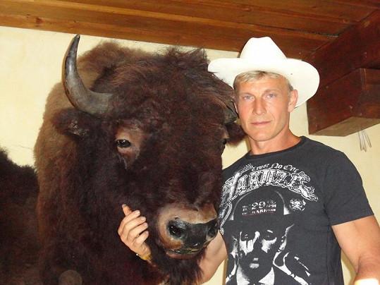Martin Maxa se nejlépe cítil u vycpaného bizona.