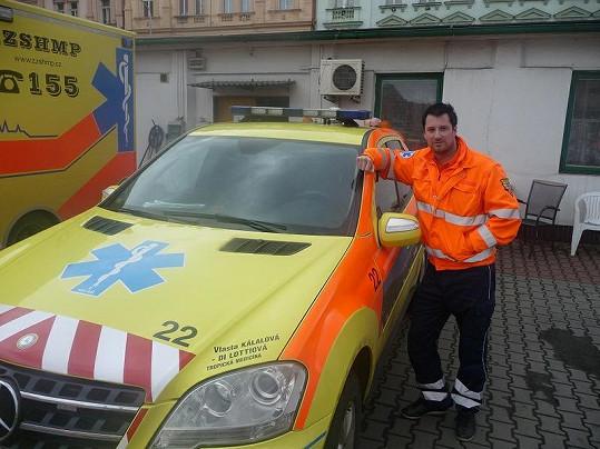 Petr Vágner během své služby na záchrance.
