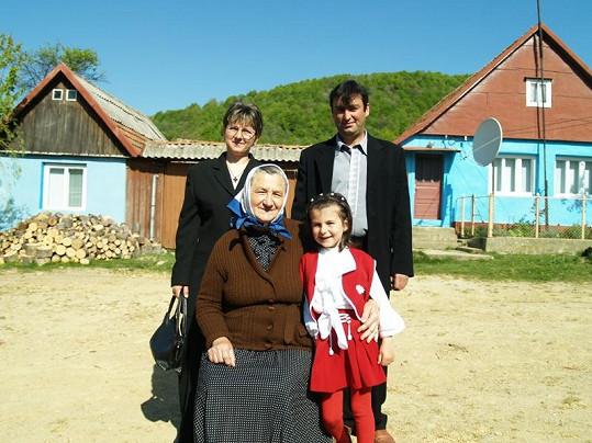 Marie se svou rodinou.