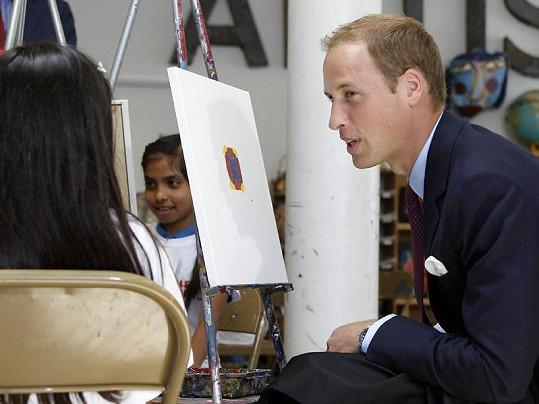 William namaloval těžko rozpoznatelný obrazec.