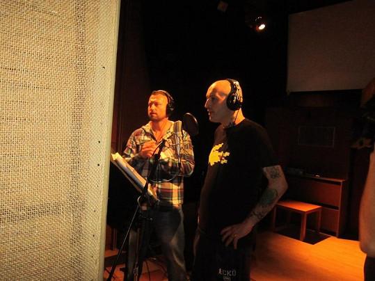 Jakub Mohamed Ali a L.U.G.E.R. při nahrávání společného songu.