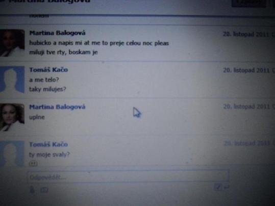Ukázka korespondence Balogové s milencem.