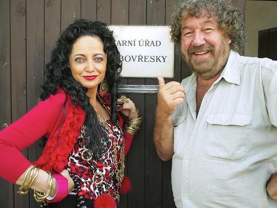 Lucie Bílá s režisérem Zdeňkem Troškou.