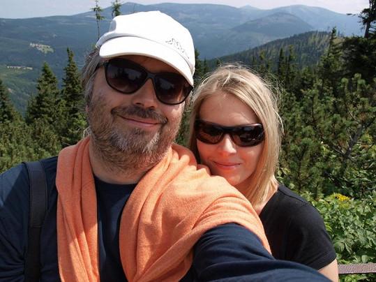 Ondřej s Alenou rádi vyrážejí na hory.
