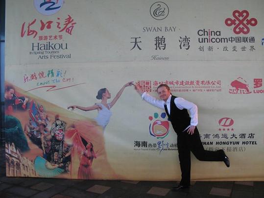 Pavla překvapila masivní reklamní kampaň, kterou jeho vystoupení Číňané věnovali.