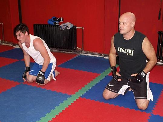 Splavený Daniel po tréninku.
