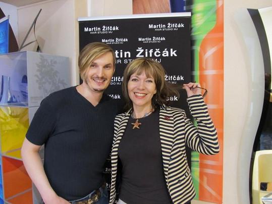 Michaela Dolinová byla s prací Martina Žifčáka spokojená.