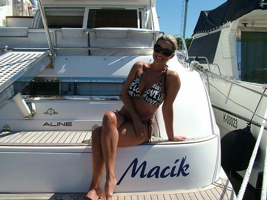 Monika strávila týden na lodi.