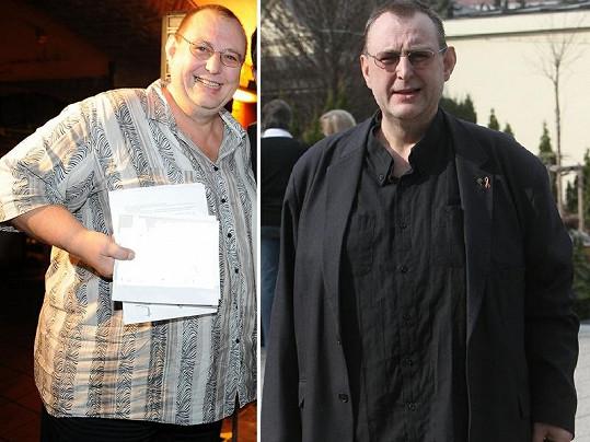 Jiří Hromada dříve a po úbytku váhy 40 kilogramů