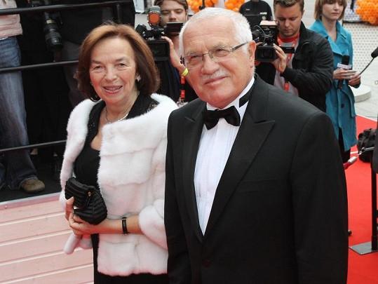 Václav Klaus dostal od Gregorové vyhubováno.