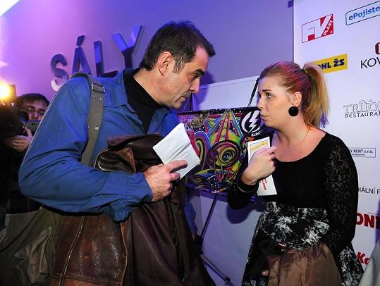 Miroslav Etzler s dcerou Markétou na premiéře v kině.