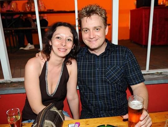 Michal Hudček s přítelkyní Martinou.