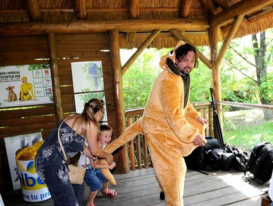 Kuba Mareš byl nadšený ze stejdy Jirky v kostýmu klokana.