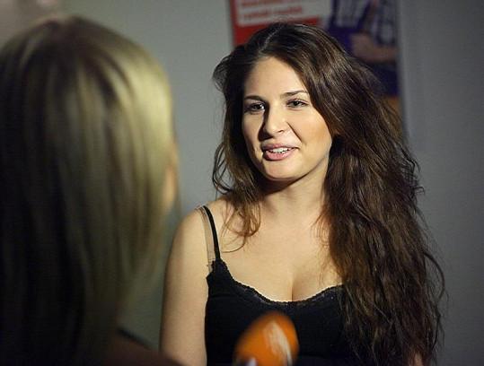 Alžběta Bartošová dělala rozhovor pro televizi.