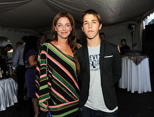 Lucie se synem Mikulášem.