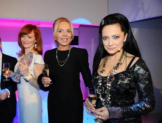 Aňa Geislerová s Dagmar Havlovou a Lucií Bílou.
