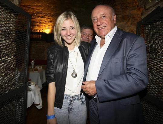 Felix Slováček s dcerou Aničkou.