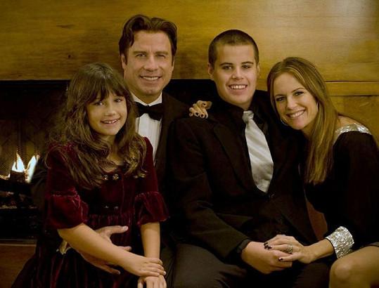 John Travolta s rodinou.