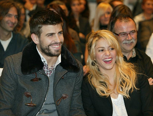 Shakira s přítelem Gerardem Piquém.