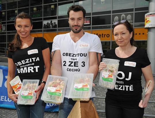Bára Basiková, Vašek Noid Bárta a Alice Bendová vysvětlovali, jak na obezitu.