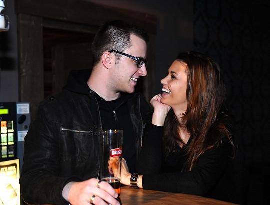 Lucie Smatanová s přítelem,