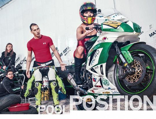 Fotil se i závodník Lukáš Pešek.