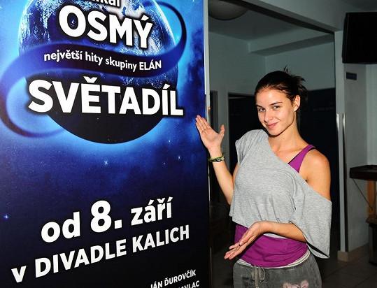 Nela Pocisková bude hrát hlavní roli v muzikálu Osmý světadíl.