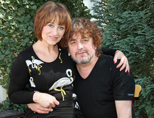 S manželem Jiřím Pracným.