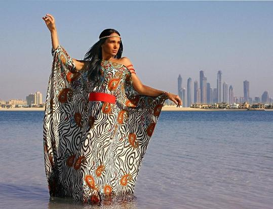 Gabriela Dvořáková jako královna Kleopatra.