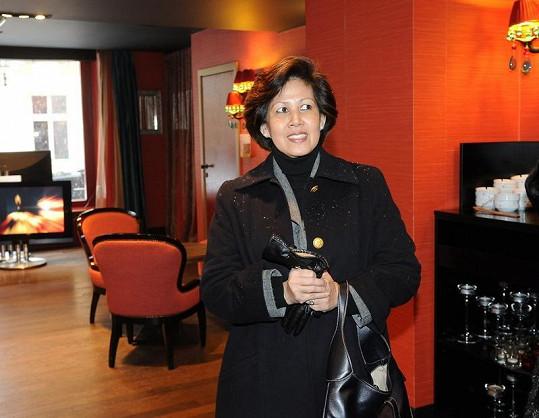 Kambodžská princezna Norodom Arunrasmy se ubytovala v pražském hotelu Buddha Bar